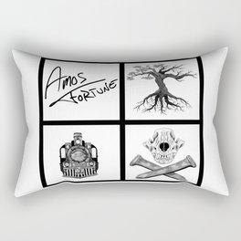 Amos Fortune Folklore Grid Rectangular Pillow