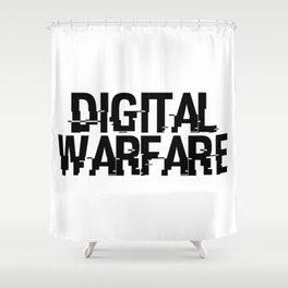 Digital Warfare Shower Curtain