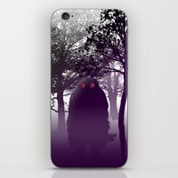 bigfoot iPhone & iPod Skins featuring Bigfoot Forest by Paz Art