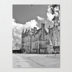 Castle B&W Canvas Print
