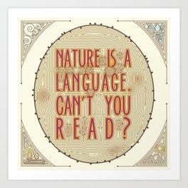 Nature is a Language: The Smiths Lyrics Art Print