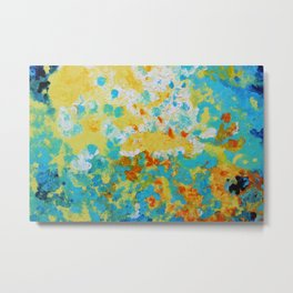 """Rebirth"" Original oil finger painting by Monika Toth Metal Print"