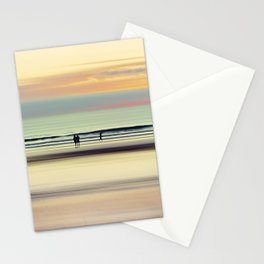 an evening at the beach Stationery Cards