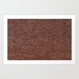Brooklyn NYC Loft Apartment Brown Stone Brick Wall Art Print
