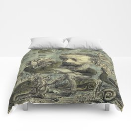 Vintage Jules Verne Periodical Cover Comforters