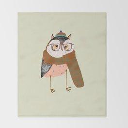 Owls Love Scarfs.  Throw Blanket