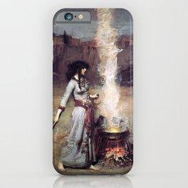 THE MAGIC CIRCLE - JOHN WILLIAM WATERHOUSE iPhone Case