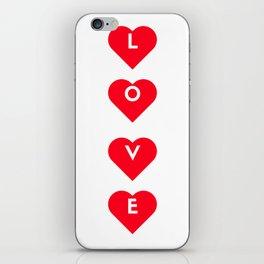 love 4 hearts iPhone Skin