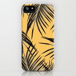 Black Palm Leaves Dream #6 #tropical #decor #art #society6 iPhone Case
