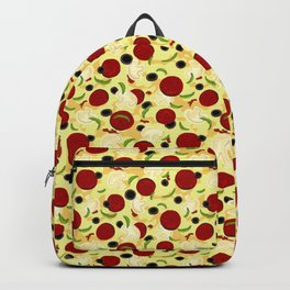 Pizza Toppings Pattern Backpack