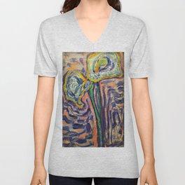 Lilies Of Arum - Piet Mondrian Unisex V-Neck