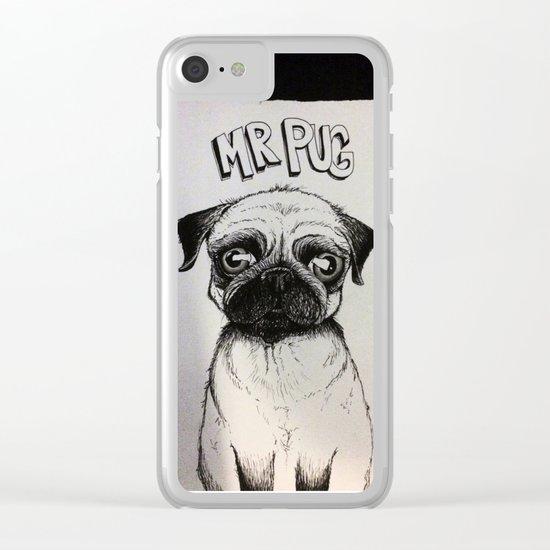 Mr. Pug Clear iPhone Case