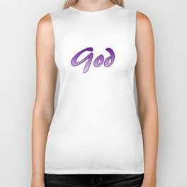 Inspiration Words...God Biker Tank