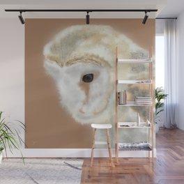 Pensive Barn Owl Wall Mural