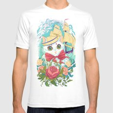Sailor Kitty Mens Fitted Tee White MEDIUM