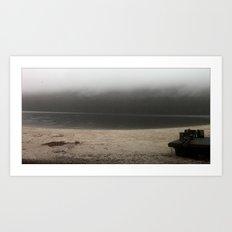 Foggy Beach. Art Print