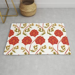 Orchid Pattern Rug