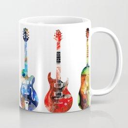 Guitar Threesome - Colorful Guitars By Sharon Cummings Coffee Mug