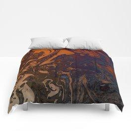 Orange Gradient Marble #marble #orange #blue #planet Comforters