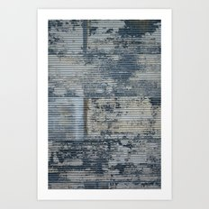 Warehouse District -- Vintage Industrial Farm Chic Abstract Art Print