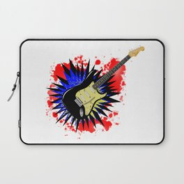 Solid Guitar Cartoon Explosion Laptop Sleeve