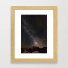 Milky way at 3400 meter hight. Scorpius and Sagitarius Framed Art Print
