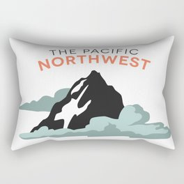 Mountains and Clouds: The Pacific Northwest Rectangular Pillow