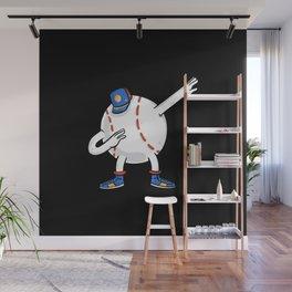 Dabbing Baseball Ball Wall Mural