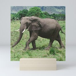 Moments Before the Elephant Charged Us Mini Art Print
