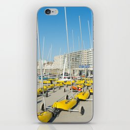 Sand yachting land yachting iPhone Skin