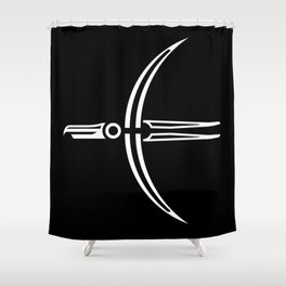 Moon Raven Shower Curtain