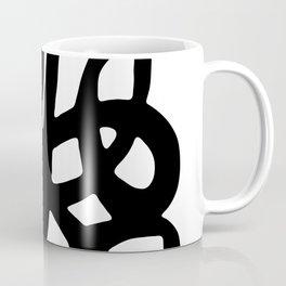 Black Line Graphic Symbol Coffee Mug