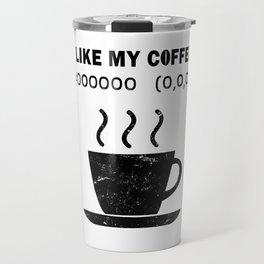 I Like My Coffee Black Hex Code RGB Programmer Graphic Designer Nerd Funny Travel Mug