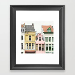 Gent Houses Framed Art Print
