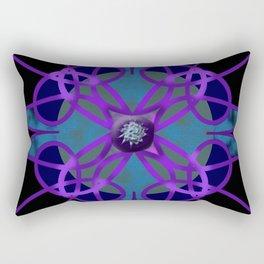 Flower in Purple Rectangular Pillow