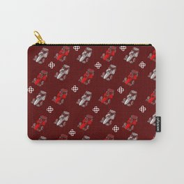 Formula Cars red and white Carry-All Pouch