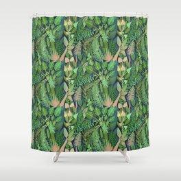 Dark Jungle Shower Curtain