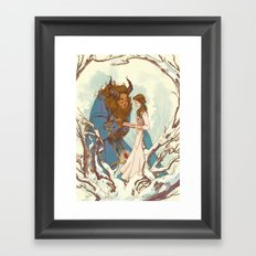 Something there Framed Art Print