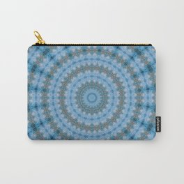 Kaleidoscope Blue Drops Pattern Carry-All Pouch