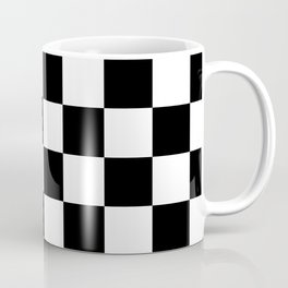 Black & White Checkered Pattern Coffee Mug
