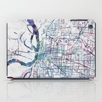 memphis iPad Cases featuring Memphis map by MapMapMaps.Watercolors
