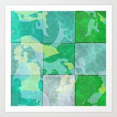 Tiled abstract Art Print