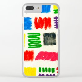Dribble Scribble Clear iPhone Case