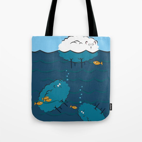Sinking Sheep Tote Bag