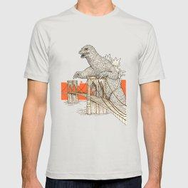 Godzilla vs. the Brooklyn Bridge T-shirt