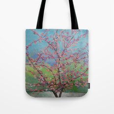 Eastern Redbud Tree Tote Bag