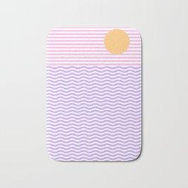 Coastline (Sunset Pink) Bath Mat