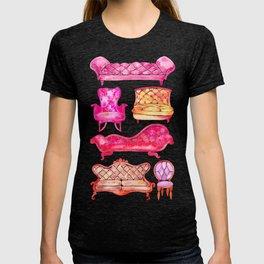 Victorian Lounge – Pink Palette T-shirt