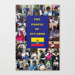 The People of Ecuador, Collage Canvas Print