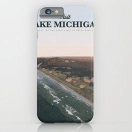 Visit Lake Michigan iPhone Case